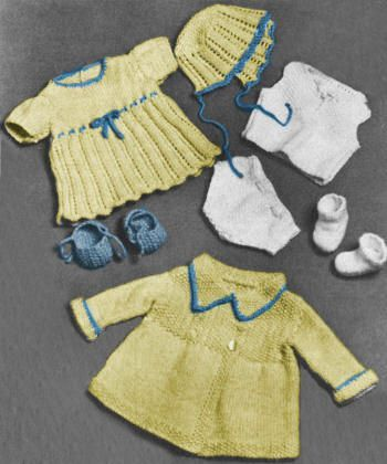 Baby Doll Clothes Vintage Knitting Pattern For Download To Fit 20