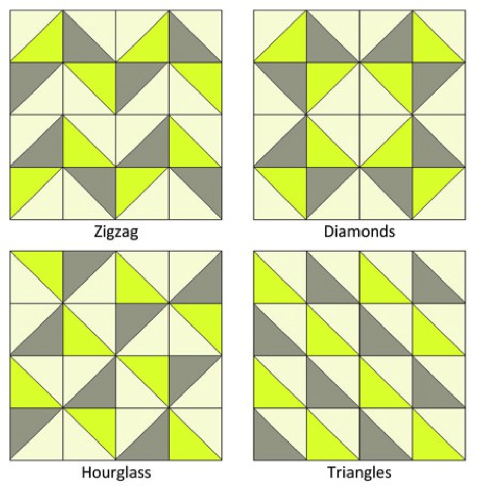 How To Build A Triangle Pattern Triangle Quilt Triangle Quilt Pattern Half Square Triangle Quilts