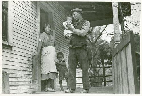 Coal miner, his wife and two children, [notice the child's l...