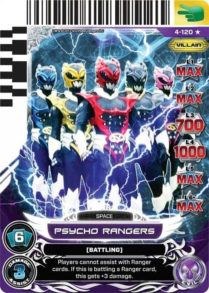 Psycho Rangers Power Rangers Trading Card