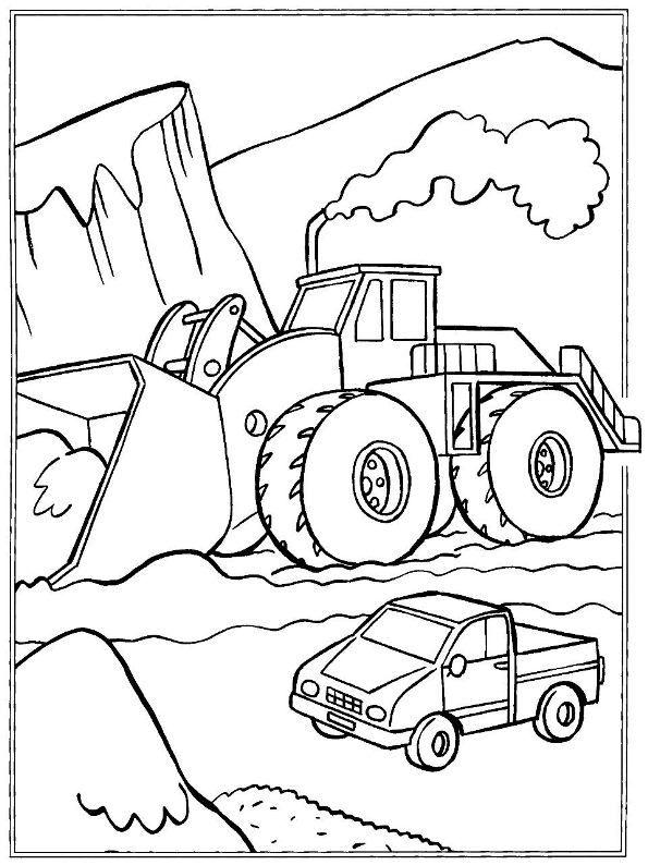 Ausmalbild Baufahrzeuge Baufahrzeuge Ausmalbilder