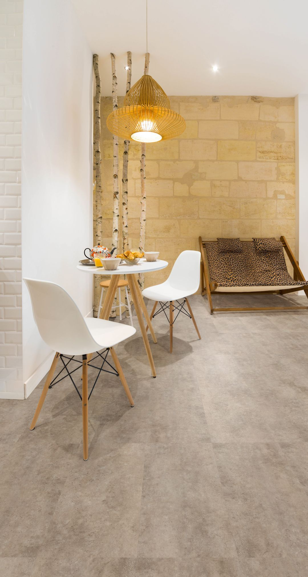 organic concrete camaro luxury vinyl tile flooring, featured in