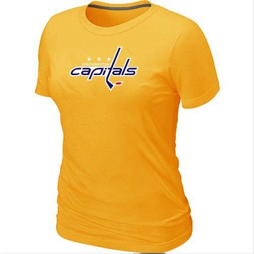 NHL Washington Capitals Big & Tall Women's Logo T-Shirt - Yellow