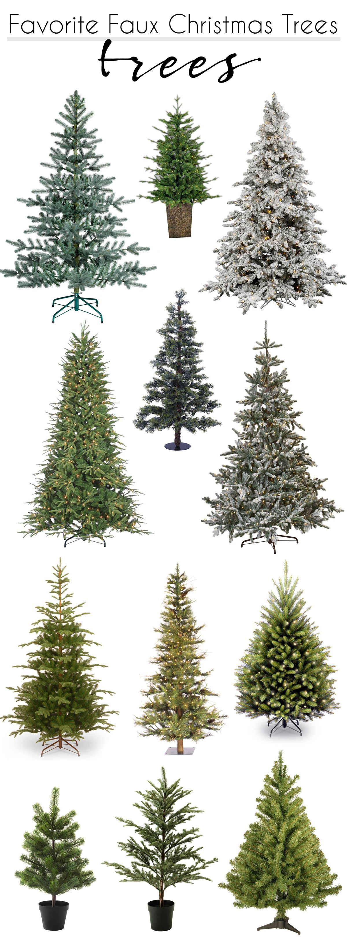 Friday Favorites: My favorite faux Christmas Trees | Faux christmas trees, Best artificial ...