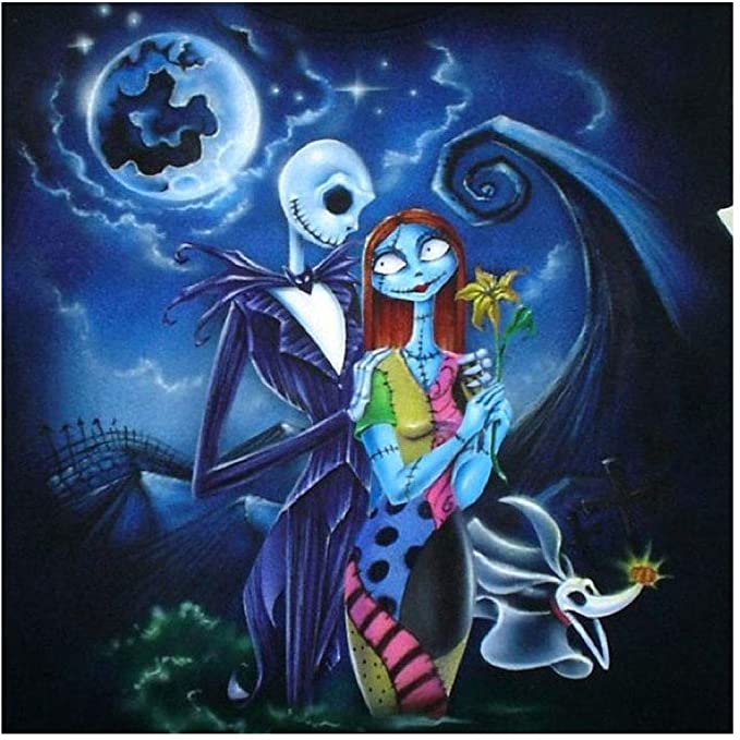 Amazon Com Diy 5d Diamond Painting By Numbers Kits Nightmare Before Christmas Tattoo Nightmare Before Christmas Drawings Nightmare Before Christmas Pictures