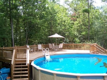 Building above ground pool deck building a deck tips - Custom above ground pool ...
