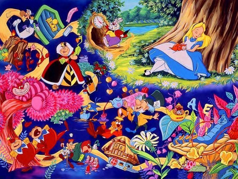 Disney Alice in wonderland wallpaper + I phone wallpaper