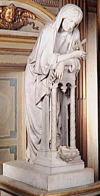 """""""La méditation"""", sculpture présentée au salon de 1865 - La méditation - marbre blanc - château de Fontainebleau"""