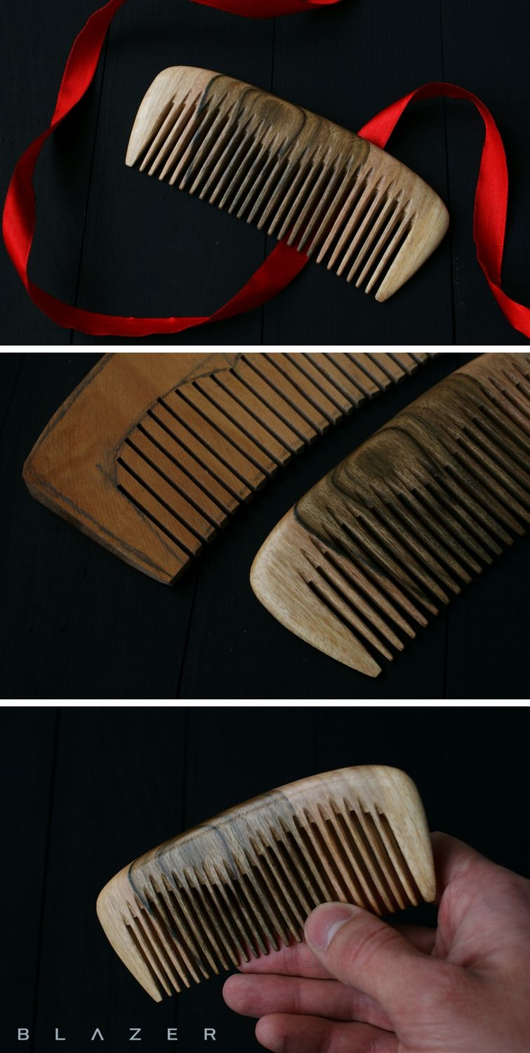 Wood Hair Comb Wooden Comb Personalized Peigne Bois 5th Anniversary