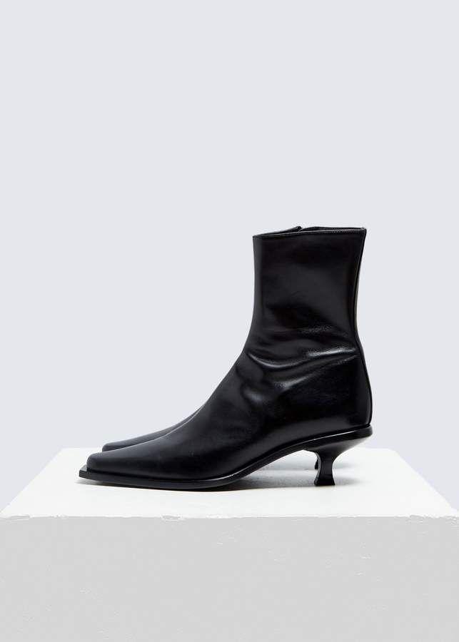 Ann Demeulemeester Kitten Heel Ankle Boot Kitten Heel Ankle Boots Kitten Heels Heeled Ankle Boots