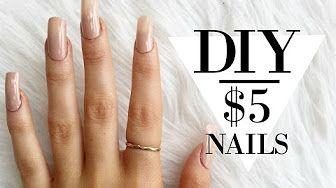 Diy Acrylic Nails Hack Easy At Home Tutorial Youtube Diy Acrylic Nails Fake Nails Diy Diy Long Nails