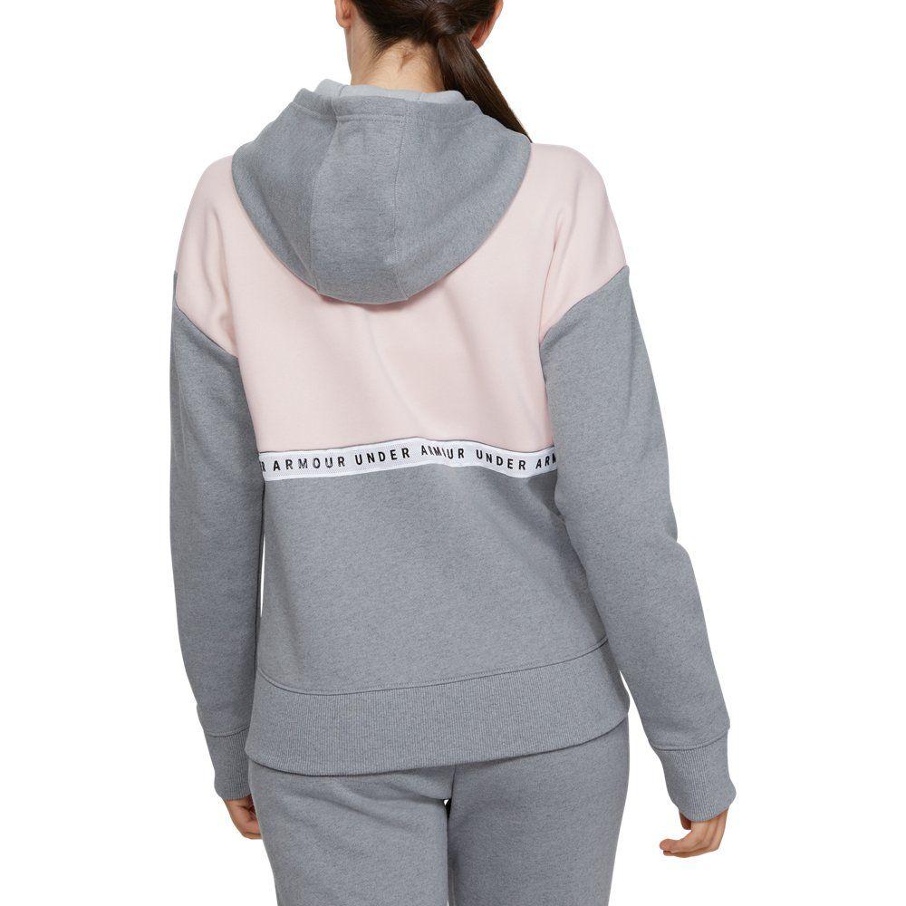 Photo of UA Performance Originators Fleece LC Logo für Damen Kapuzenjacke mit durchgehendem Reißverschluss | Under Armour US