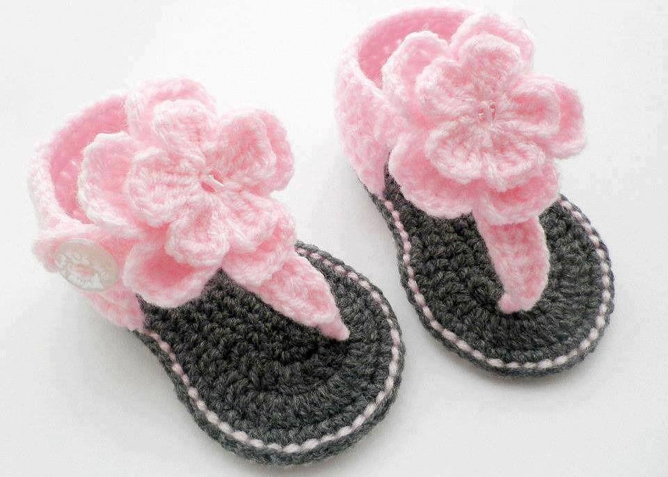 Trés Par En Sandales Bebe Tendance Bébé Fleur CrochetMode OwPk0Xn8
