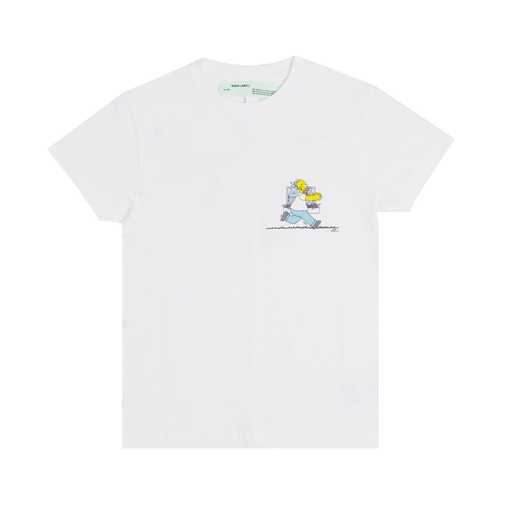 Off White Homer And Bart T Shirt White Off White Cloth Off White Shirts Shirts White [ 1024 x 1024 Pixel ]