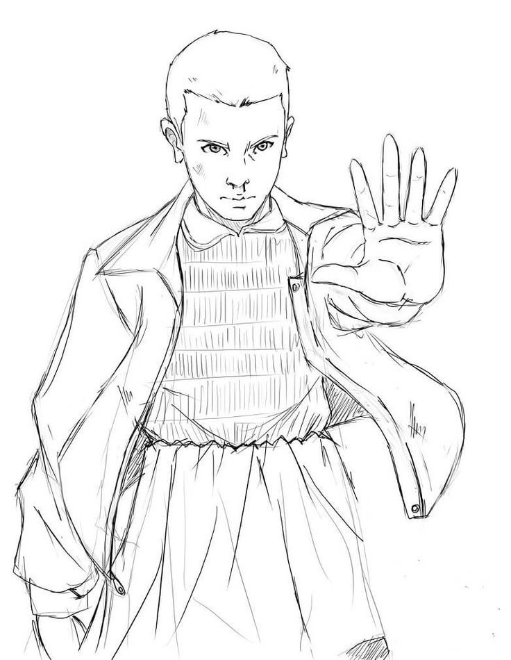 Free Stranger Things Coloring Pages Eleven Stranger Things Art Eleven Stranger Things Drawing Stranger Things Poster