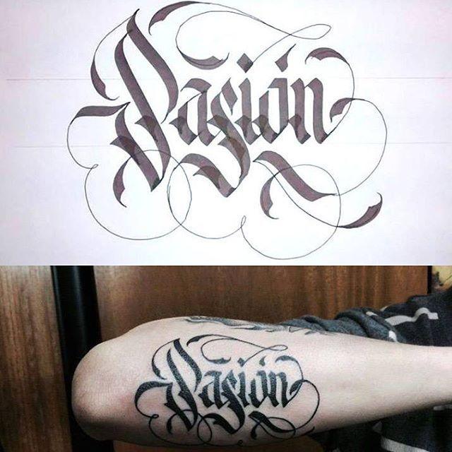 Caligrafía para Tattoo.  2015. #caligrafia #calligraphy #typegang