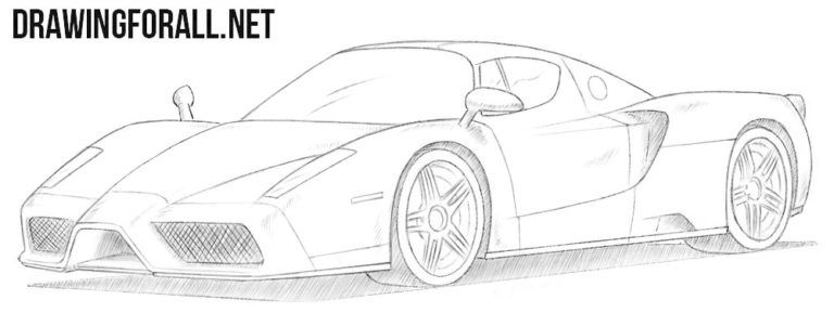 How To Draw A Ferrari Enzo With Images Ferrari Enzo Ferrari