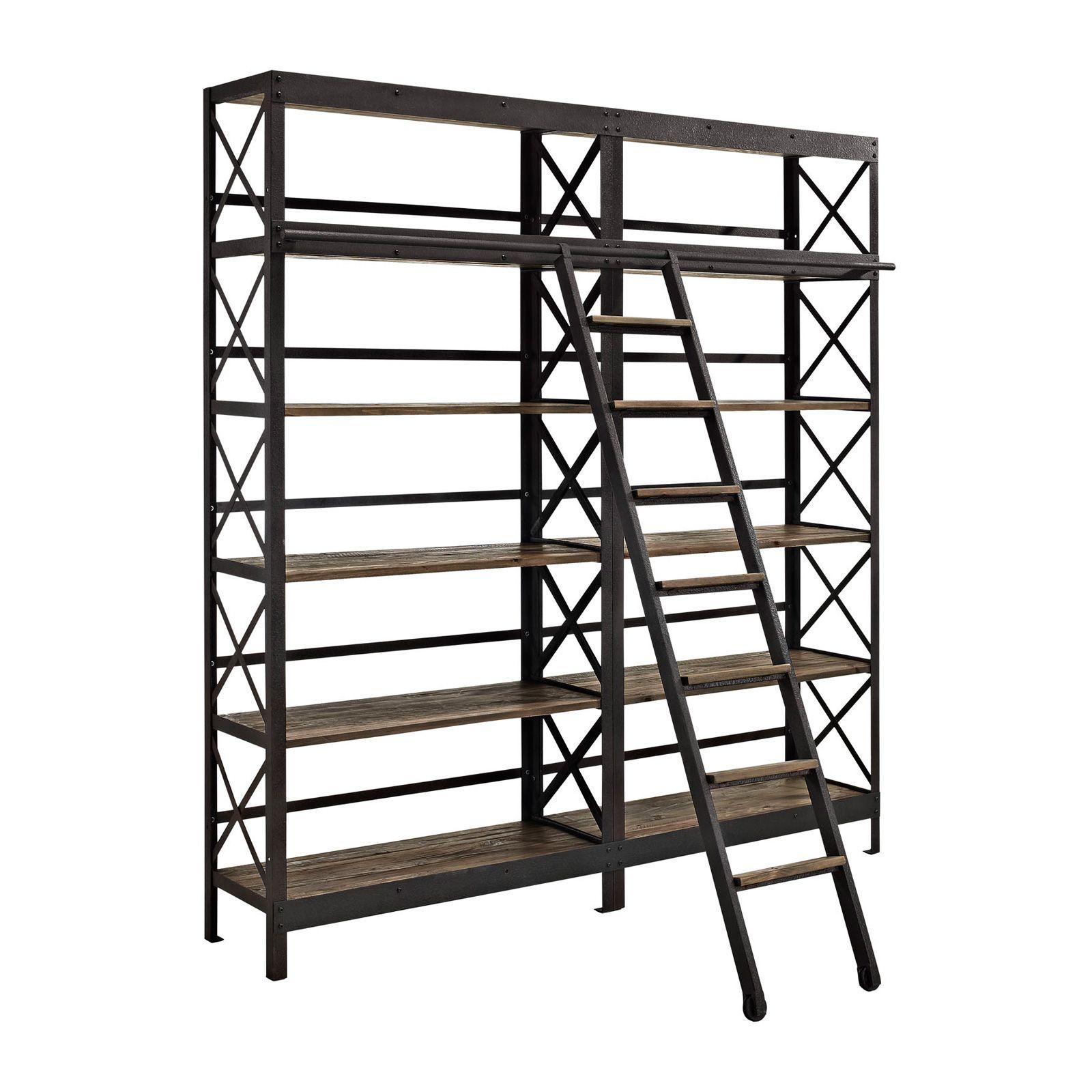 Modway Furniture Eei 1215 Brn Set Headway Wood Bookshelf In
