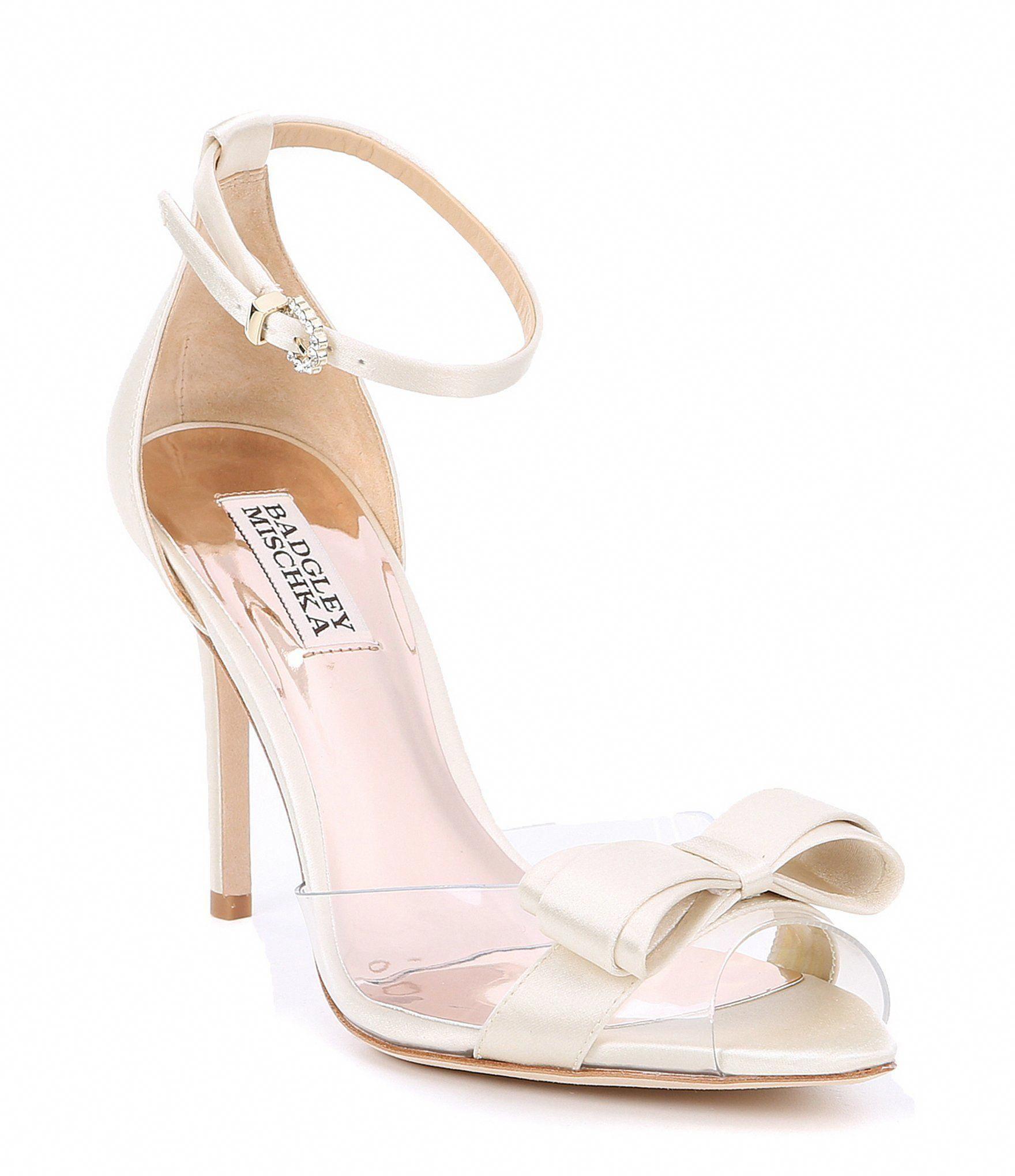 Shop For Badgley Mischka Lindsay Fabric Clear Dress Sandals At Dillards Com Visit Dillards Com To Find Clothin Wedding Shoes Heels Bride Shoes Wedding Boots