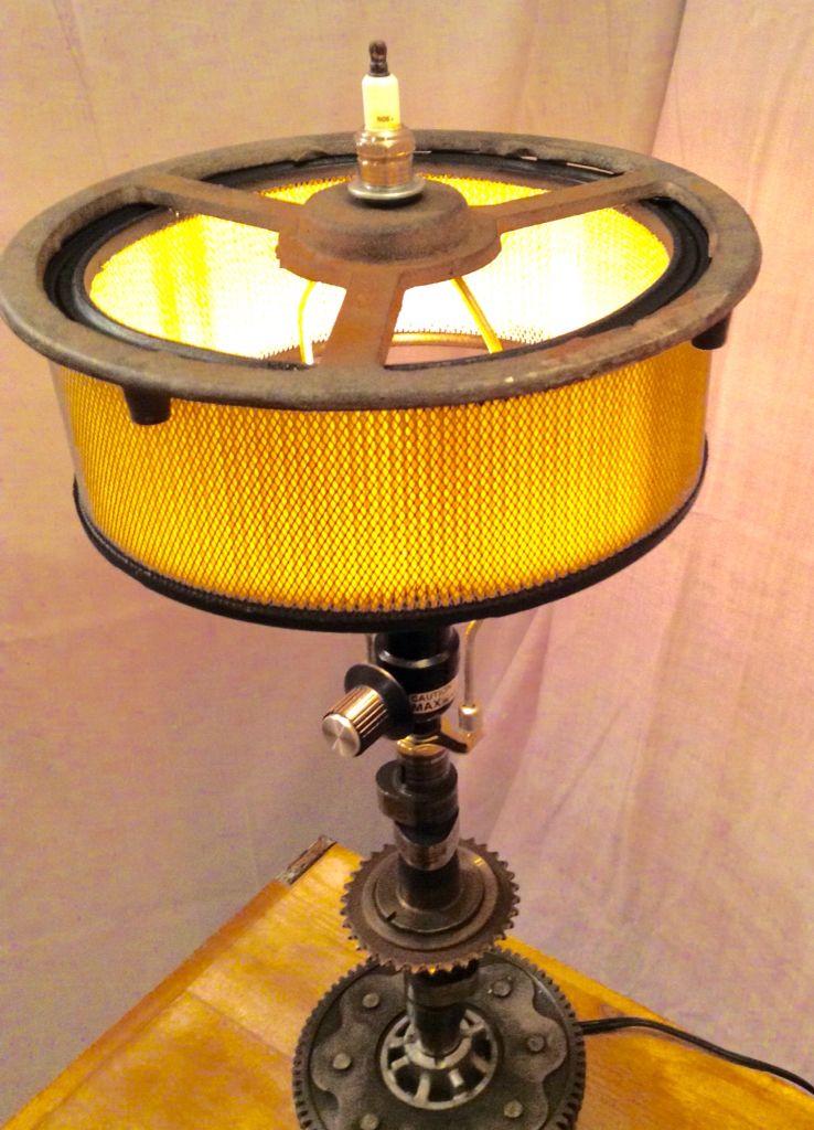 Air filter Lamp, Steampunk lamp