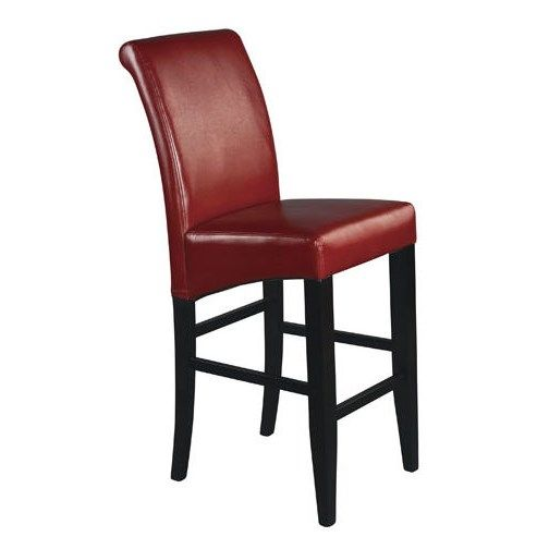 "OSP Designs MET8630RD Metro 30"" Parsons Barstool in Crimson Red"