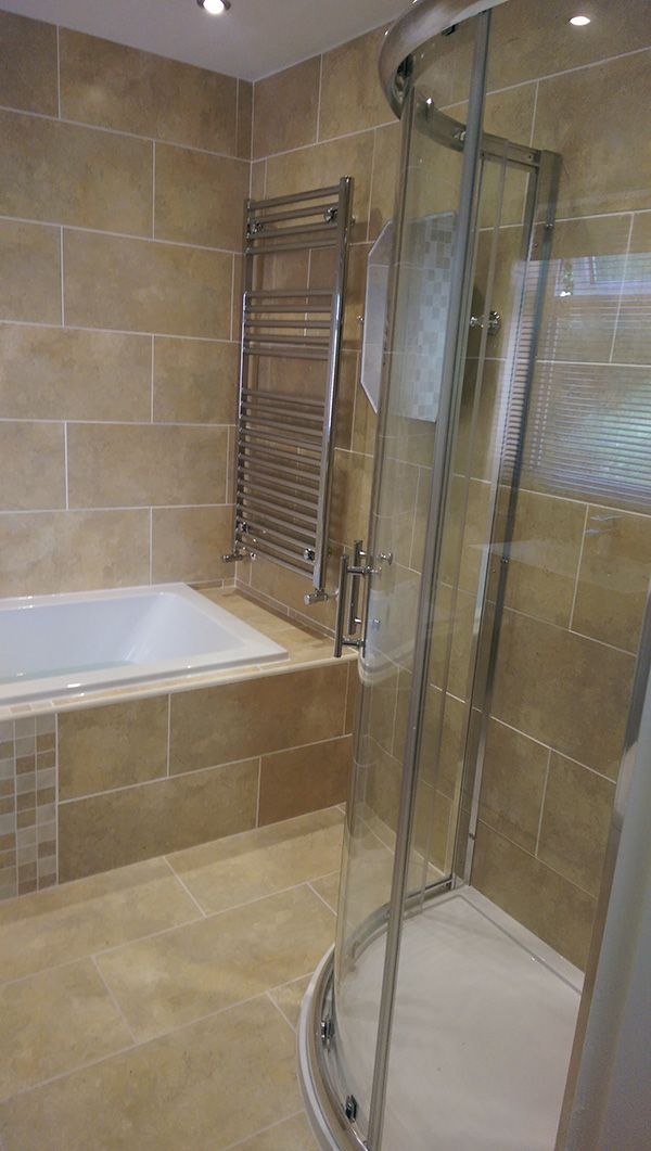 This Project Was Another Fully Tiled Bathroom Shower Room With Existing Vinyl Flooring Which We Strippe Fully Tiled Bathroom Shower Room Trendy Bathroom Tiles