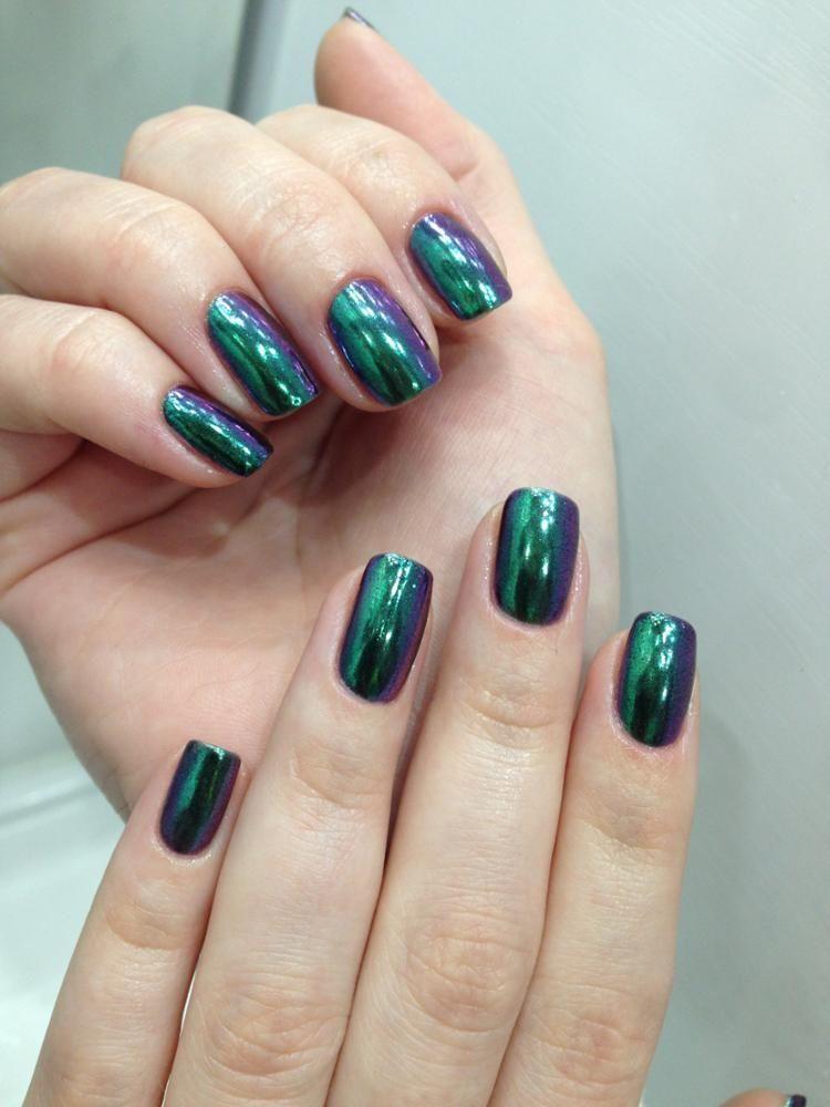 10 Colors Shiny Mirror Glitter Nail Powder Gold Sliver Glitter ...