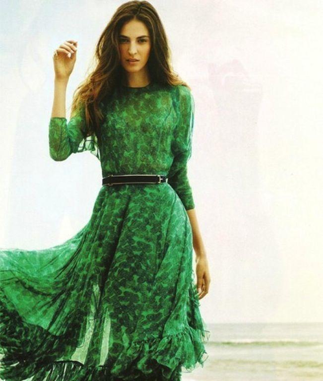 Jade vs emerald color dress