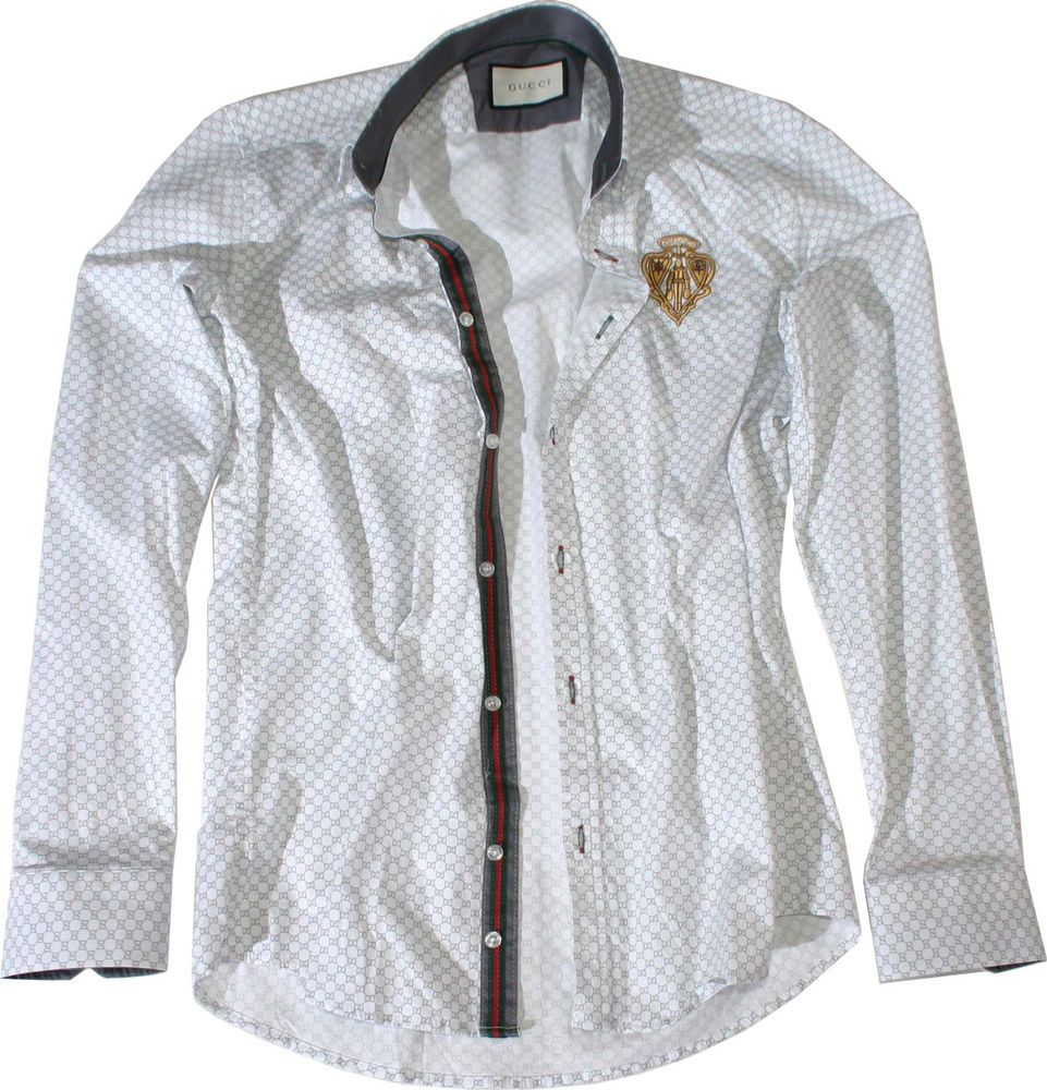 31f5137c308 New Gucci Button Down White Color Men s Cotton Dress Shirt Size Medium   fashion  clothing  shoes  accessories  mensclothing  shirts (ebay link)