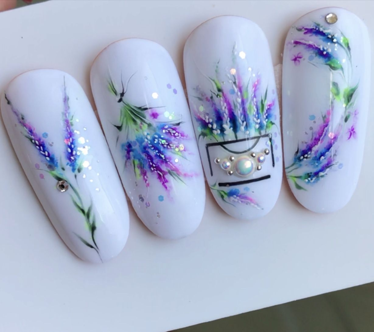 Акварель на ногтЯх, очень нежно и изящно 😻 | Дизайн ногтей ...