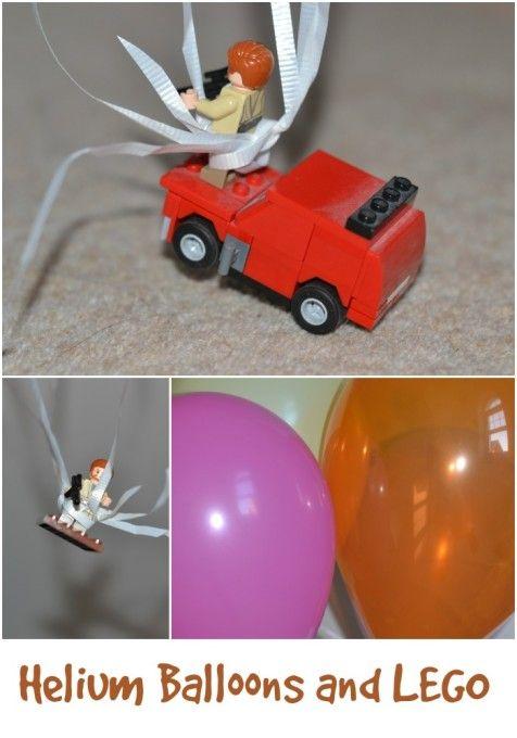 How many helium balloons to lift a LEGO man | Helium balloons, Lego ...