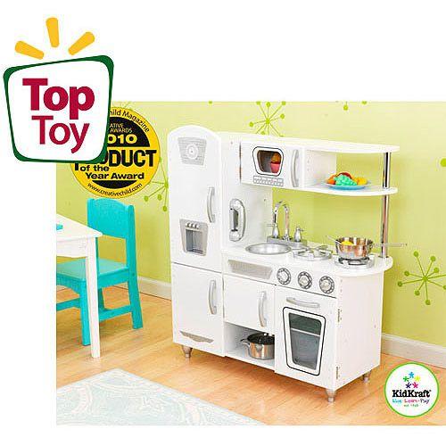 Kidkraft Vintage Play Kitchen White Walmart Com Play Kitchen Sets Kidkraft Vintage Kitchen Wooden Play Kitchen