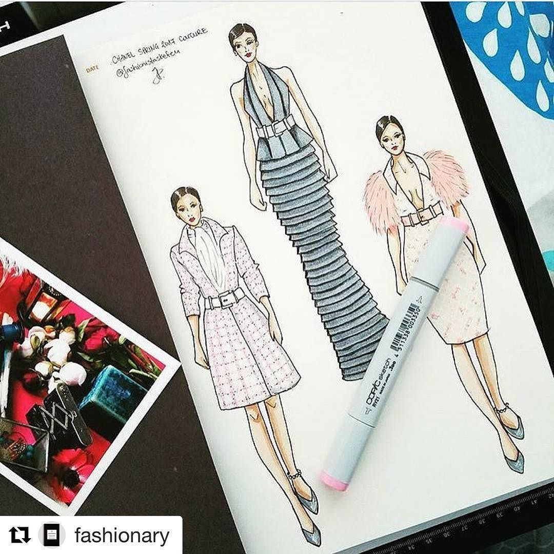 Before you start drafting a pattern you need to sketch your idea. This fab range of notebook templates is brilliant for designers.  #Repost @fashionary (@get_repost)  Sketching @chanelofficial haute couture SS2017 collection by @fashionistasketch using #fashionary sketchbook. ___________________________________ #fashiondesigner #design #sketch #sketch #patterns #patterncutter #patterncutting #tools #equipment #newbusiness #entrepreneur