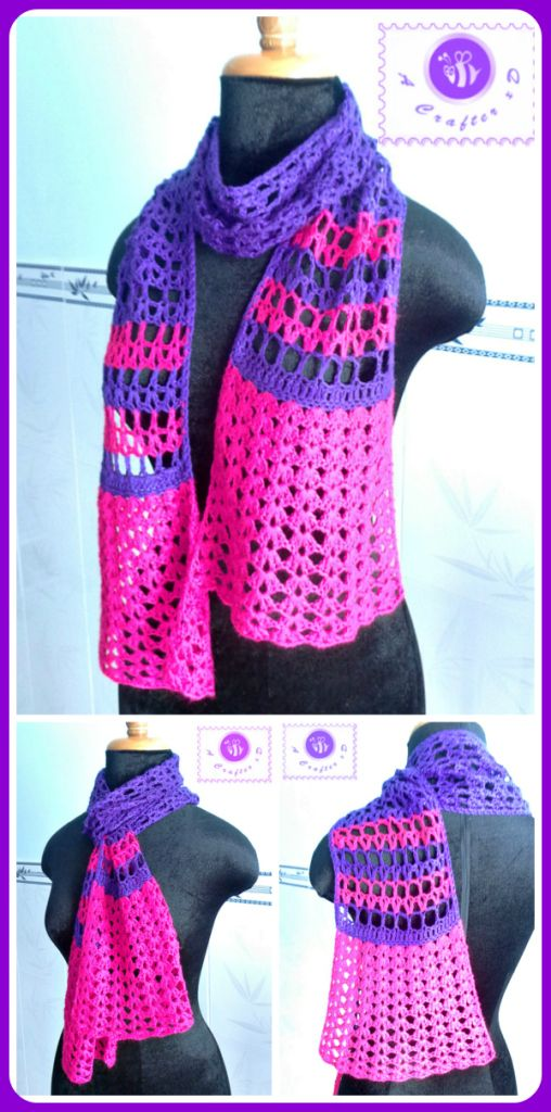 Culotte Scarf, free crochet pattern by Maz Kwok | Recetas para ...