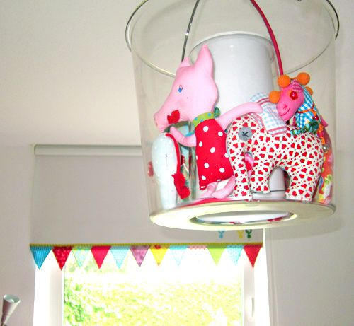 Kinderzimmer liebevolle Deko nähen Ikea lampen