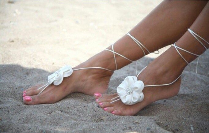 Feet Decoration Feet Decorations With Images Wedding Sandals