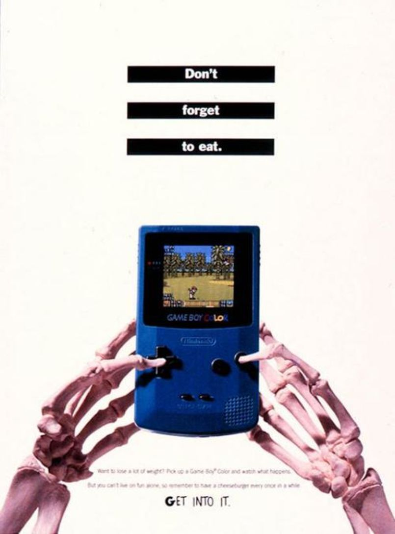 Gameboy color ad - Gameboy Color Ad Uses Humor To Tell Current And Potential Game Boy Users Something They Re Familiar With Probably From Their Mom Or Dad In Their Life