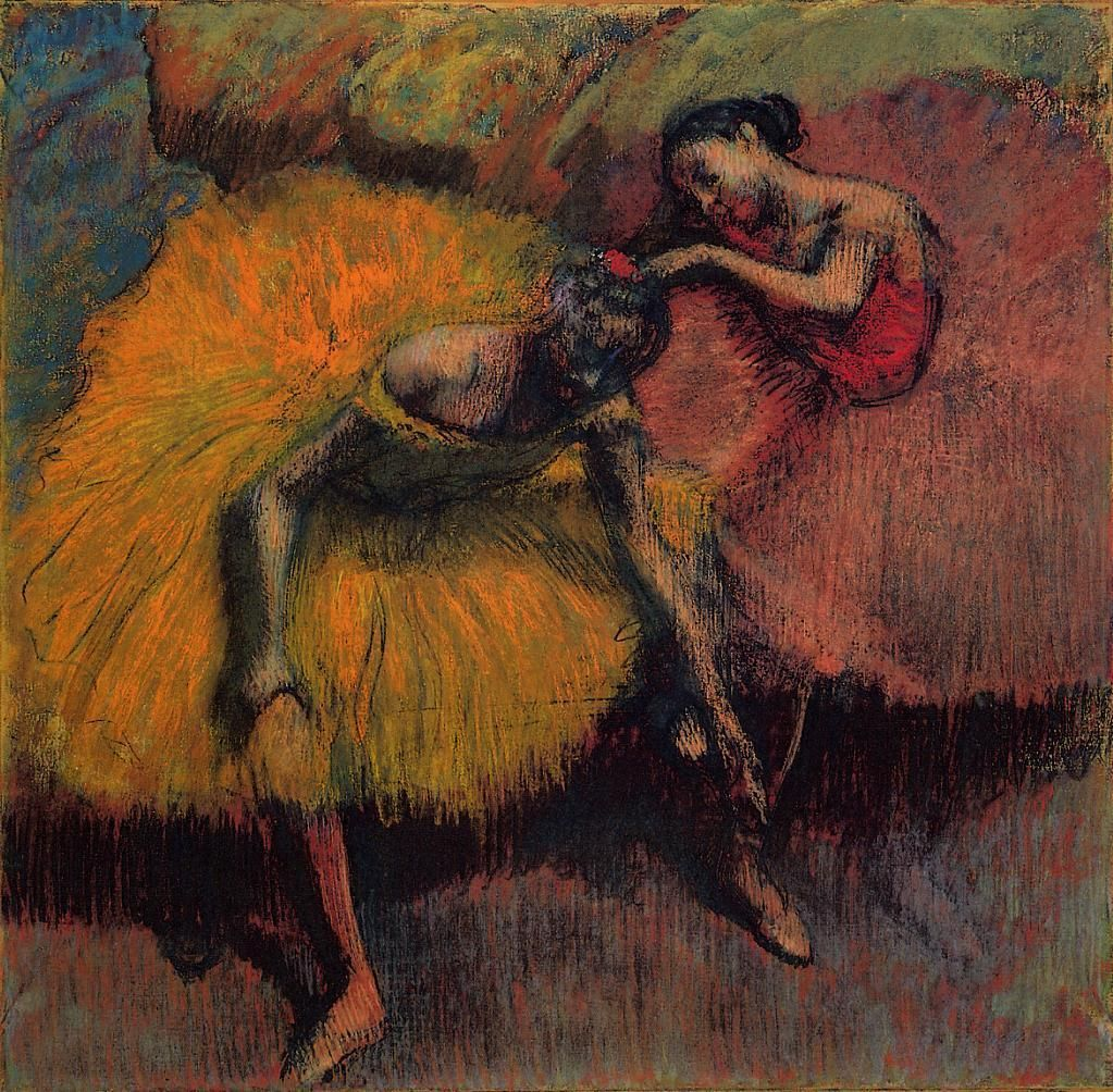 Edgar Degas, Two Dancers in Yellow and Pink, ca. 1900.