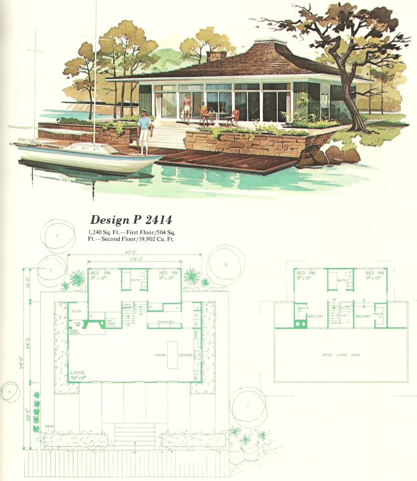 vintage house plans vacation homes 1960s teeny tiny