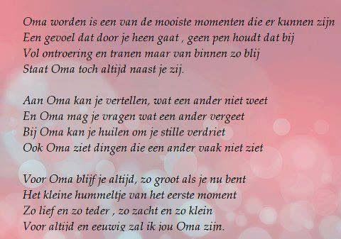 Oma Worden Oma Citaten Baby Gedichten En Dochter Gedichten