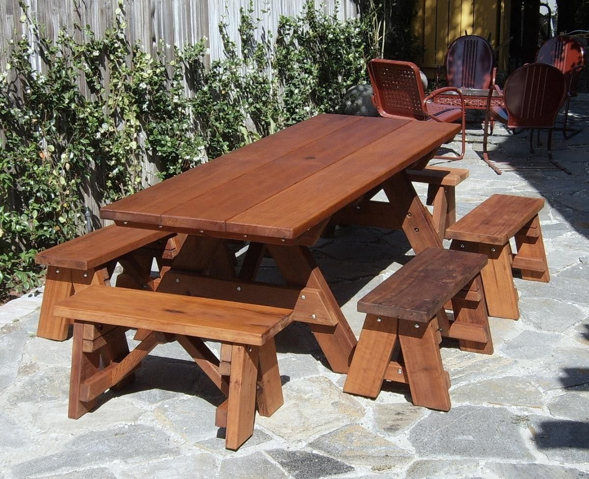 Exceptional Heritage Picnic Tables, Built To Last Decades | Forever Redwood