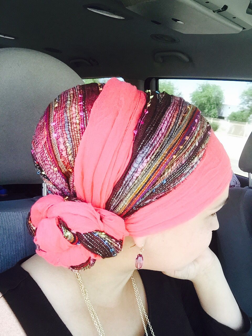 Head wrap with braided side bun head wraps side bun
