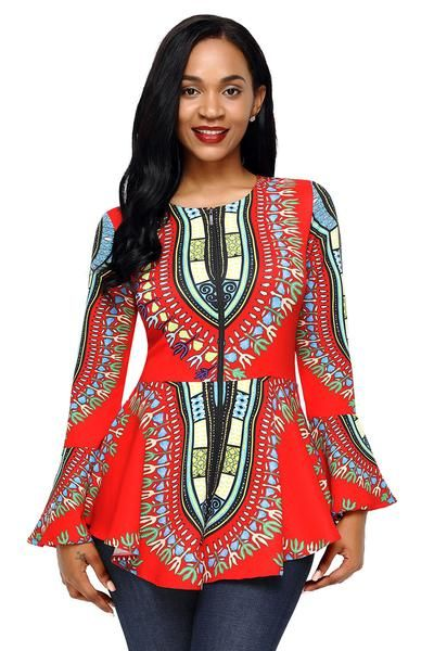 c191c621b2439f Check out this Traditional African prints peplum top.Perfect top for pencil  pants