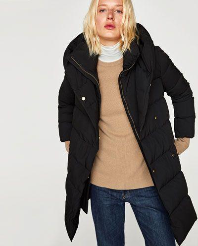 chaquetas de abrigo zara