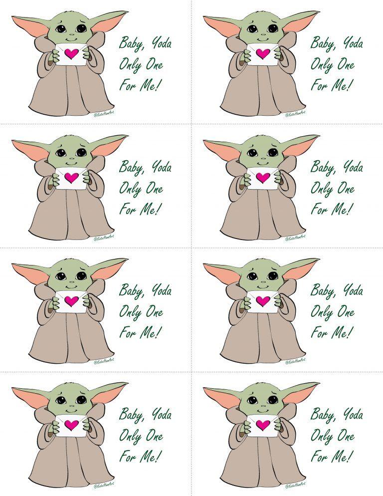Baby Yoda Printable Valentine S Day Cards Instant Download Printable Valentines Day Cards Valentines Printables Free Valentines Printables