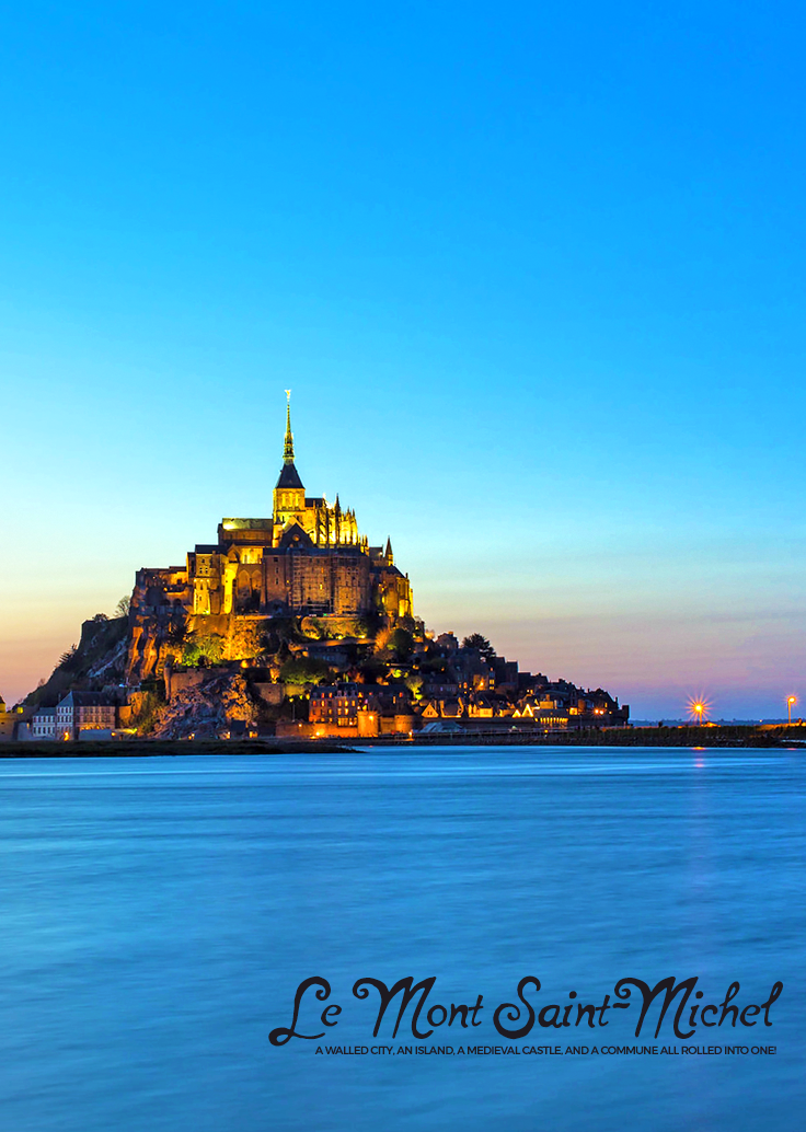 There's certainly more to France than Paris. For starters, come check out this fairytale-like island and walled city of 'Le Mont Saint Michel' in Normandy!