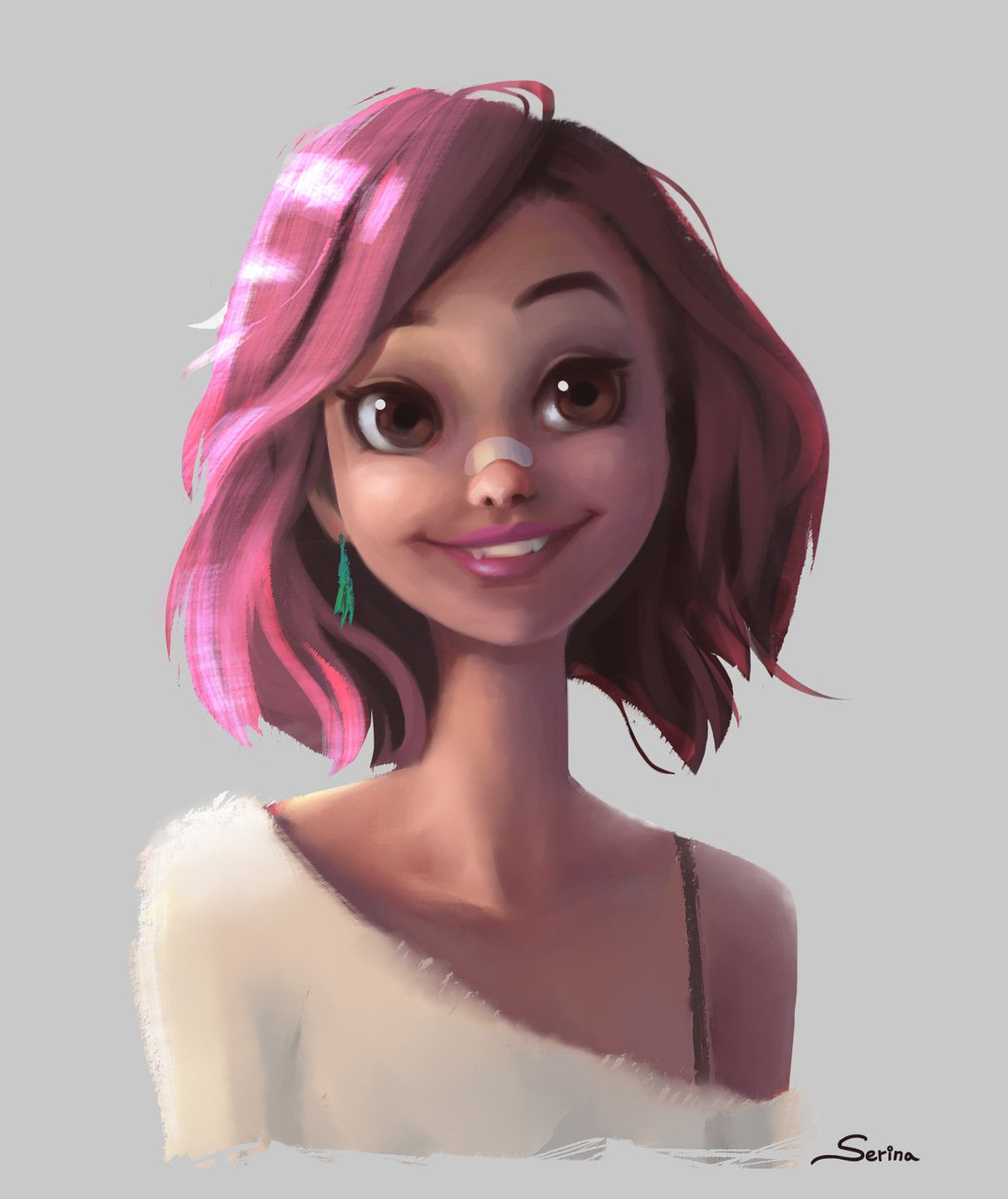 Pink Hair Lovely Lady Serina Mo Character Design Inspiration Digital Art Girl Concept Art Characters
