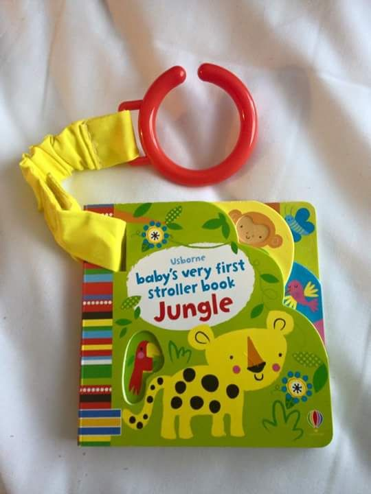 One of the new stroller books. Great for car seats or high chairs too! July 2015 http://usbornebookswithshannon.com