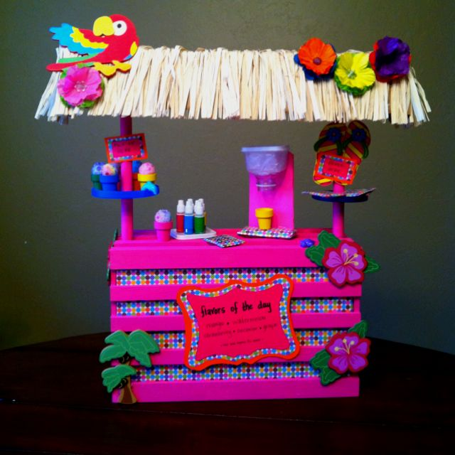 Homemade version of kanani 39 s shaved ice stand american for American girl diy crafts
