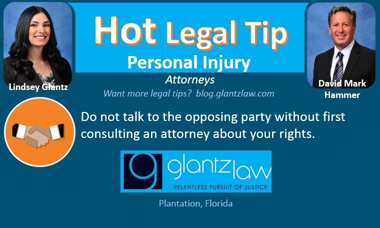 Hot Legal Tip By Personal Injury Attorneys Lindsey Glantz And